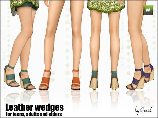 Sims 3 shoes, foowear, sandals, wedges