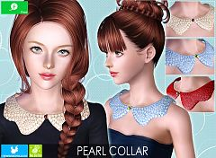 Sims 3 collar, accessory, pearl