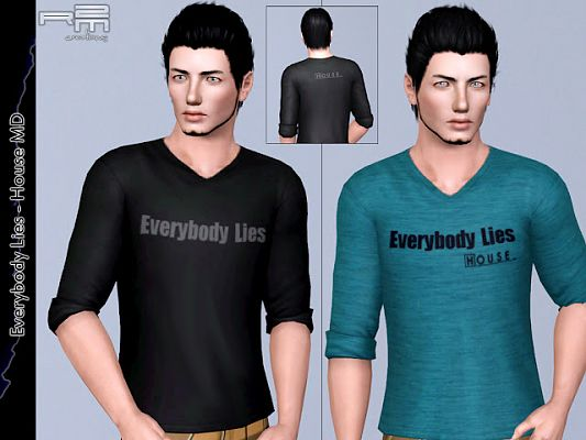 Sims 3 tee, shirts, males, clothes