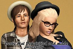 Sims 3 hat, accessories, female, male