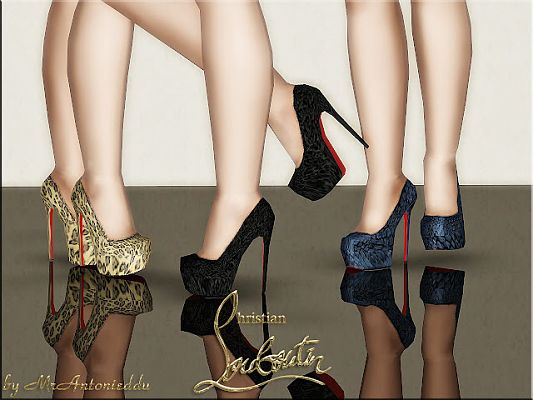 Sims 3 shoes, pumps, high heels, designer