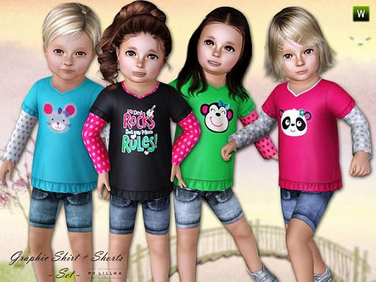 Sims 3 tee, shirts, toddler, clothes