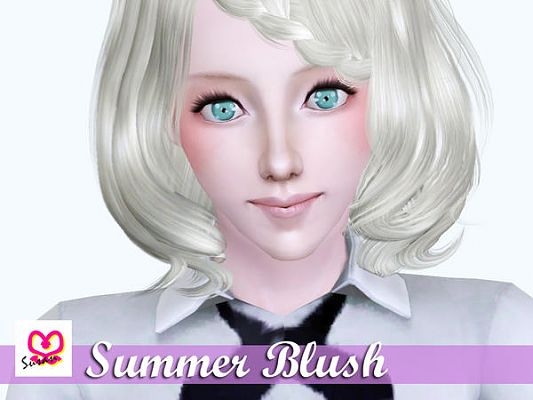 Sims 3 blush, makeup, summer