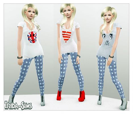 Sims 3 outfit, set, fashion, females