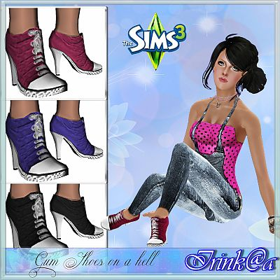Sims 3 shoes, high heels, boots, fashion, female
