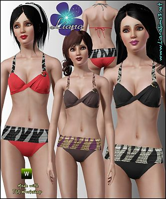 Sims 3 fashion, swim, swimwear, women, sims, sand, beach