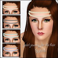 Sims 3 pearl, accessory, hair
