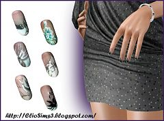 Sims 3 nails, accessories, females, sims3