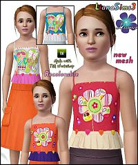 Sims 3 fashion, girl clothing, clothes, sims, children