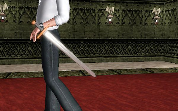 Sims 3 sword, accessory, males