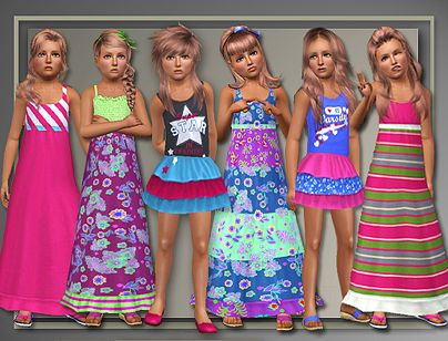 Sims 3 outfit, fashion, clothing, female, dress, child