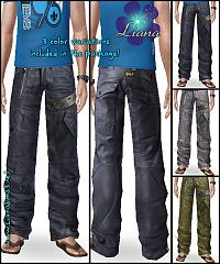 Sims 3 men, jeans, pants, baggy, sims