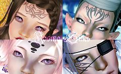 Sims 3 tattoos, fantasy, face