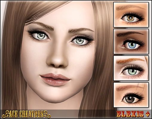 Sims 3 eyebrows, brows, genetics, female