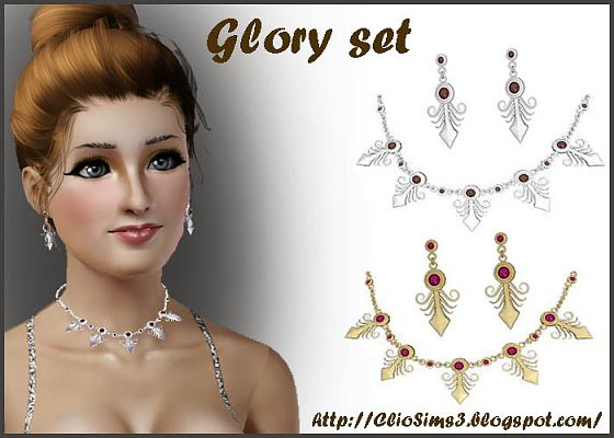 Sims 3 accessory, earrings, necklace, jewelry