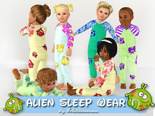 Sims 3 sleep, sleepwear, set, outfit