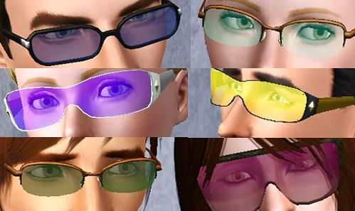 Sims 3 glasses, accesories, lenses