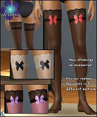 Sims 3 hosiery, stockings, tights, lace, bow
