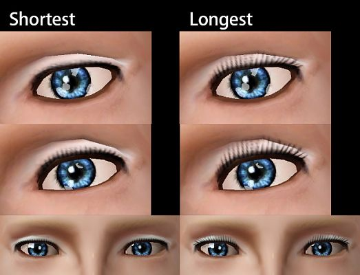 Sims 3 eye, lashes, accessories