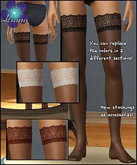 Sims 3 hosiery, stockings, tights, lace
