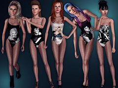 Sims 3 body, bodysuit, outfit, clothes