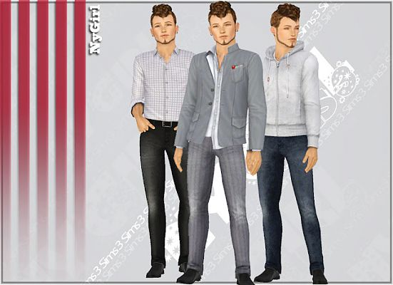 Sims 3 jeans, male, botttom, denim, clothes
