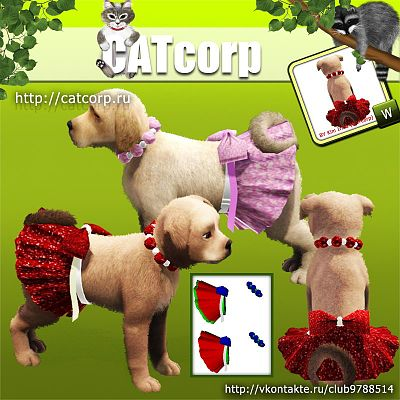 Sims 3 skirt, bottom, cloth, pet, dog