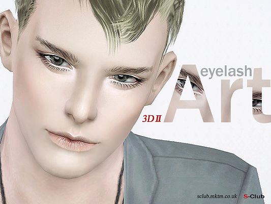 Sims 3 eye, eyelashes, 3d
