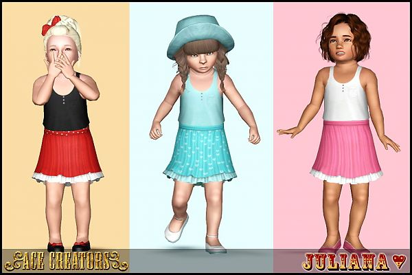 Sims 3 top, outfit, dress, fashion, clothing, casual, female, toddler