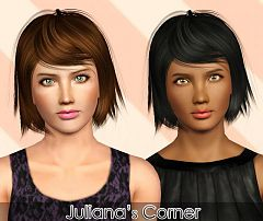 Sims 3 hair, hairstyle, female, retexture, edit