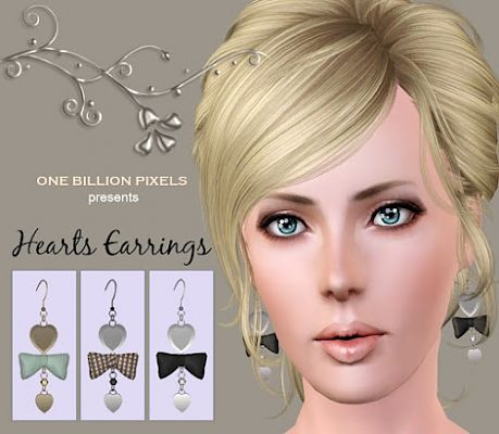 Sims 3 accessory, earrings,  jewelry