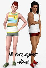 Sims 3 pants, bottom, shorts, males