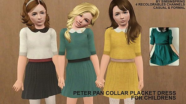 Sims 3 dress, fashion, clothing, casual, female, child