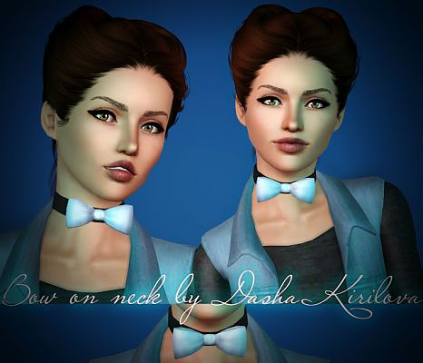 Sims 3 bow,  necklace, accessories, fashion, female