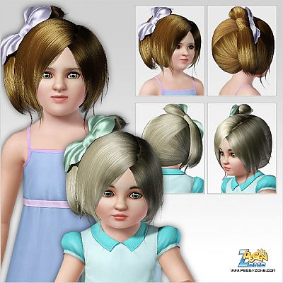 Sims 3 hair, female, child, toddler