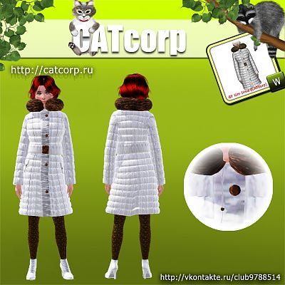 Sims 3 coat, fashion, clothes