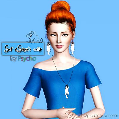 Sims 3 jewelry, accessory, cat, necklace, earrings