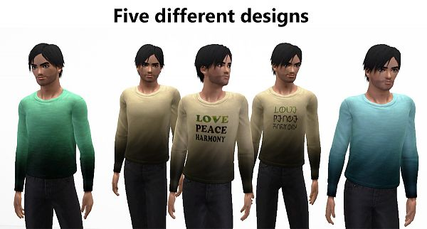 Sims 3 shirt, males, clothes