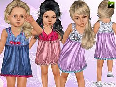 Sims 3 dress, cloth, clothing, fashion, toddler