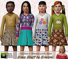 Sims 3 hoodie, skirt, tees, children, clothing