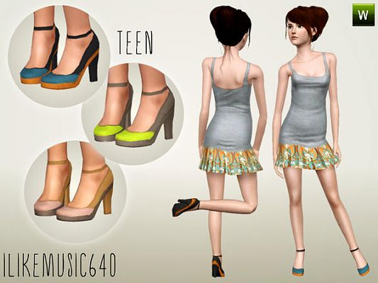 Sims 3 shoes, heels, boots