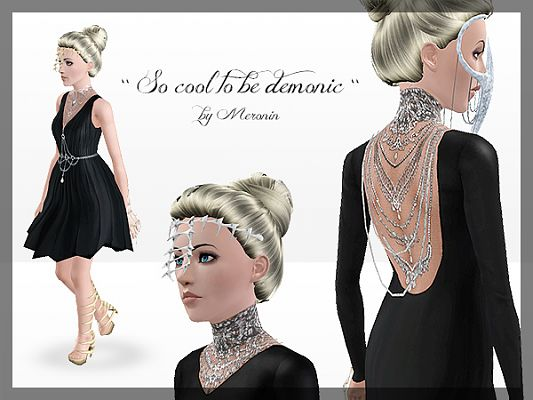 Sims 3 dress, cloth, clothing, fashion, shoes, demon