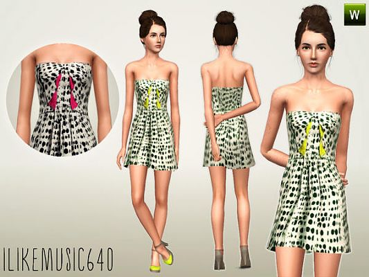 Sims 3 dress, cloth, clothing, fashion
