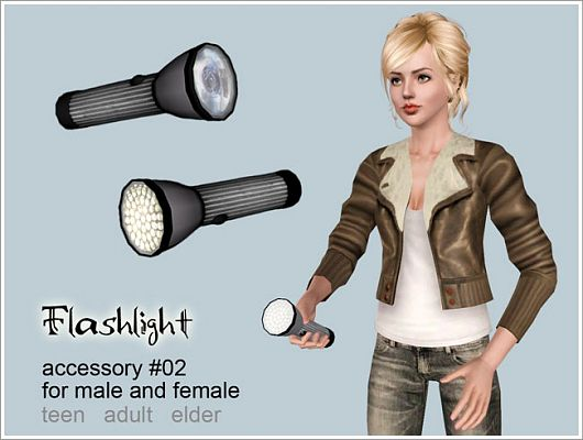 Sims 3 flash, light, accessory