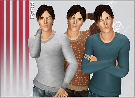Sims 3 sweater, clothing, male, outfit
