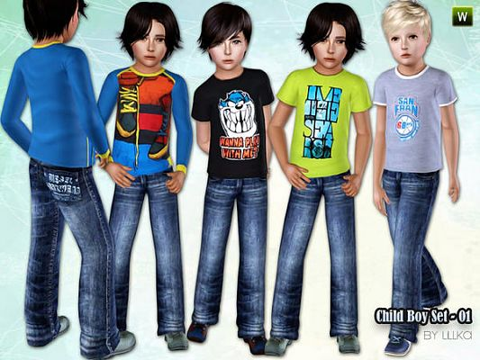 Sims 3 cloth, clothes, fashion, set, boys