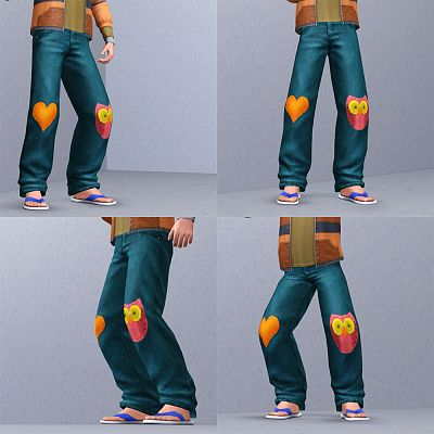 Sims 3 pants, denim, kids