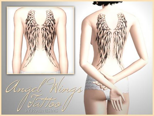 Sims 3 tattoo., tattoos, accessory, wings
