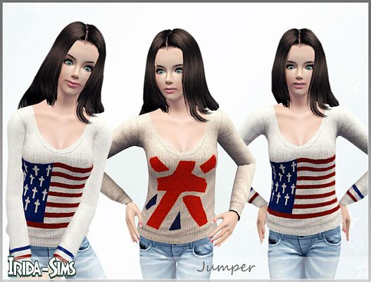 Sims 3 sweater, top, clothes, females