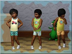Sims 3 toddler, outfit, recolor